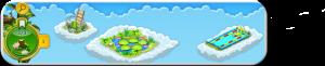 Wolkenreihe Seerosenteich